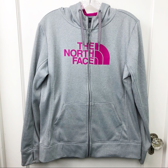 a9a47626349d The North Face Gray Pink Zip Front Hoodie Large. M 5c37d7797386bc735fe52c5e